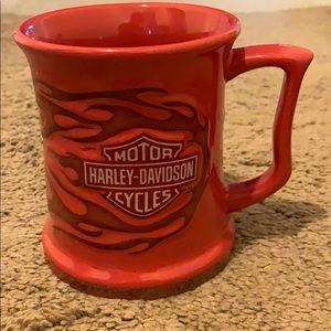 Red Flame Harley-Davidson coffee mug